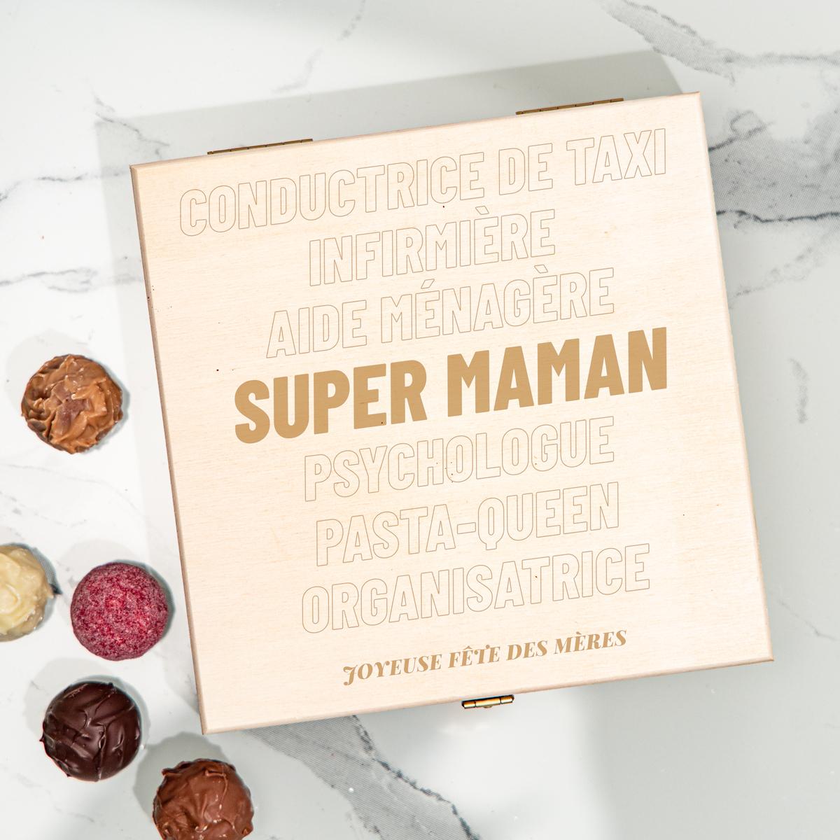 cadeau maman Boîte de Chocolats avec Texte