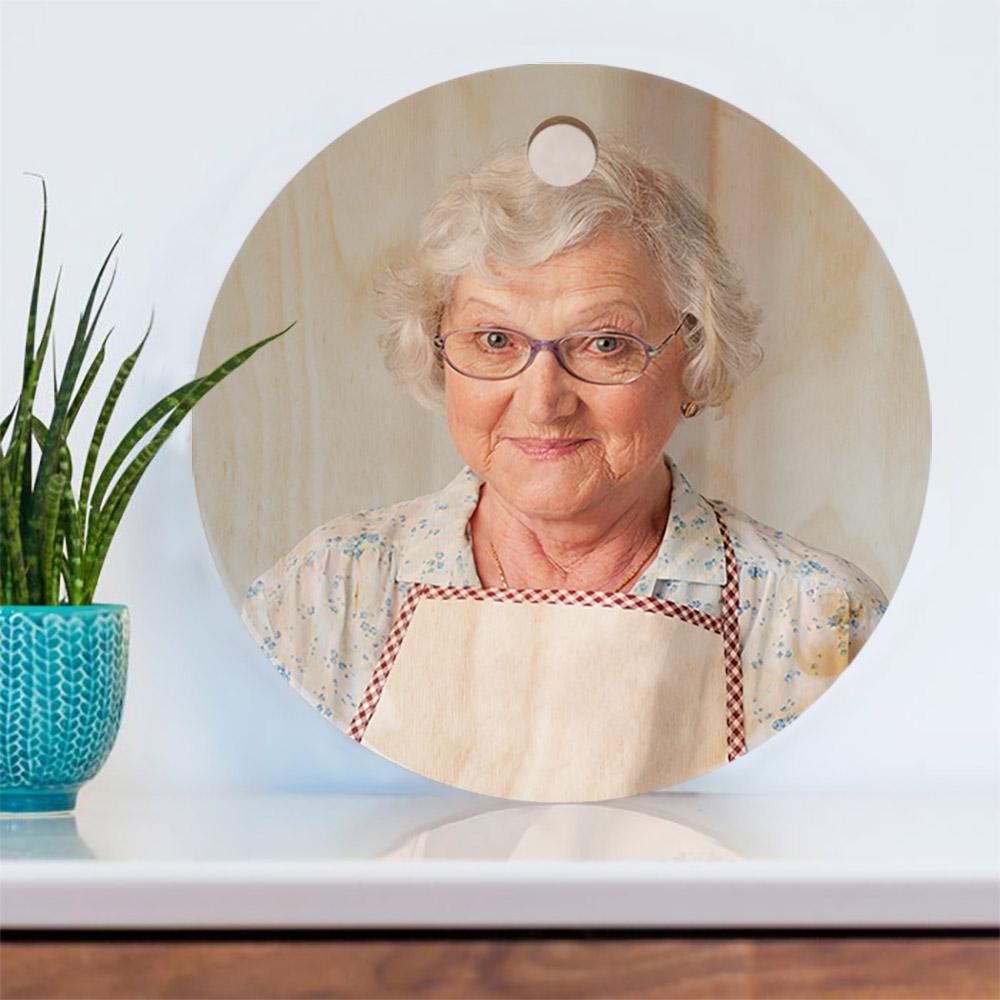 cadeau maman Planche à découper avec photo