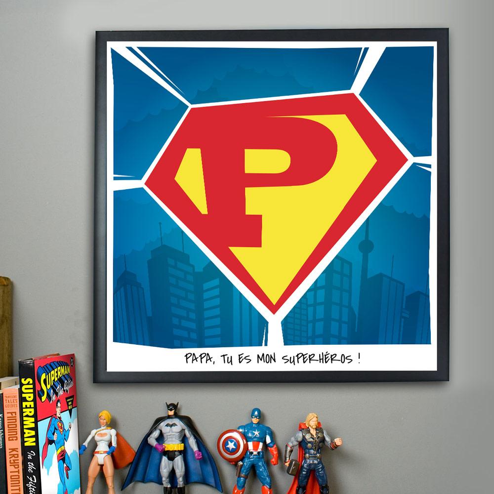 cadeau papa Superman Poster Personnalisable