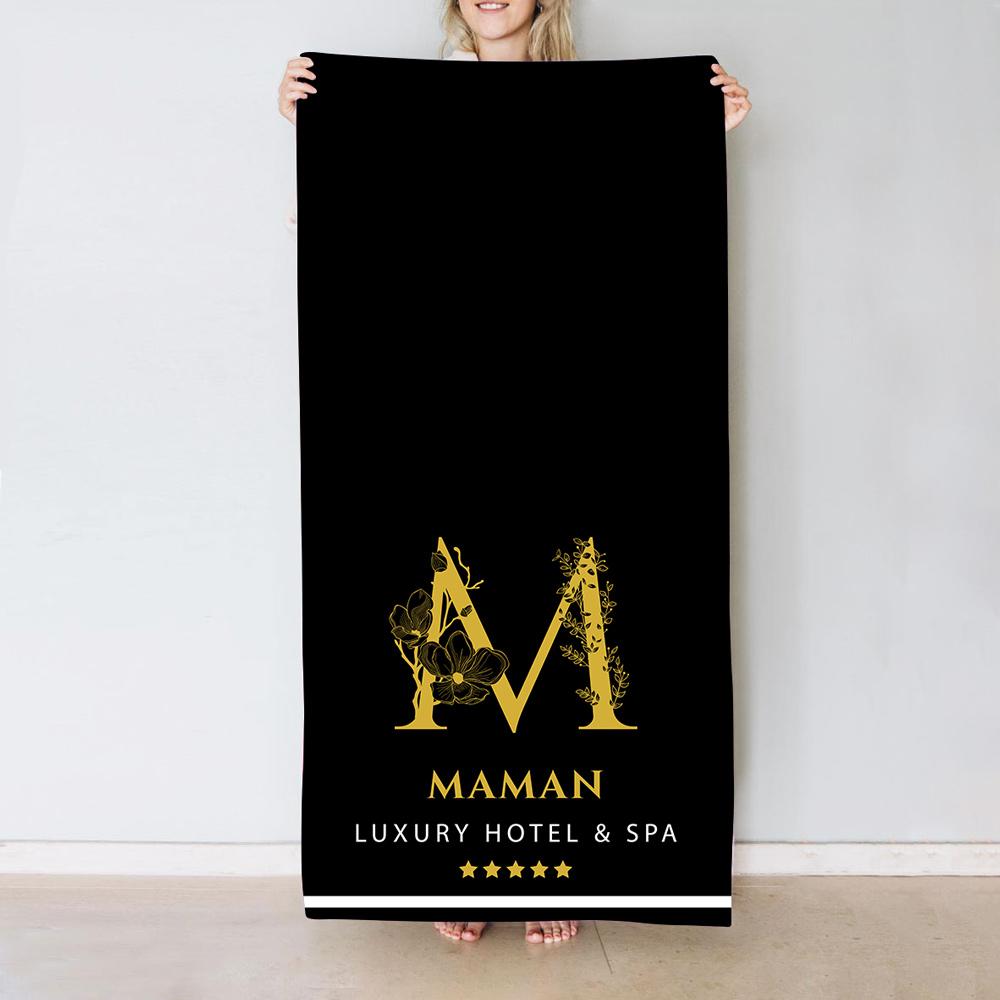 cadeau maman Serviette avec Monogramme Design Hôtel