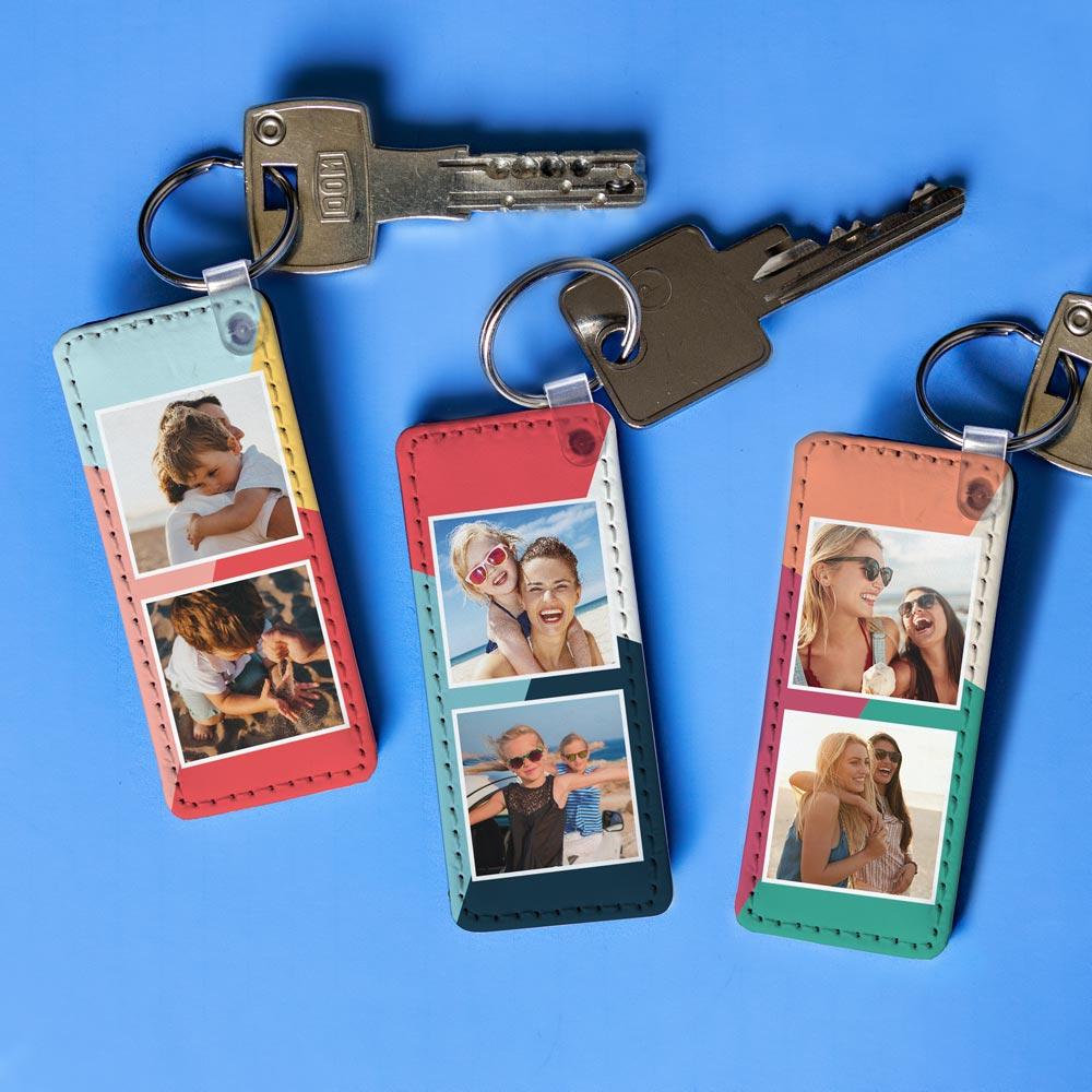 cadeau maman Porte-clés Personnalisable avec 2 Photos