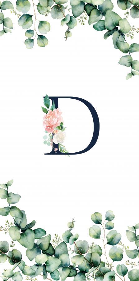 Handtuch mit Monogramm und Text (TOMOXT) - D
