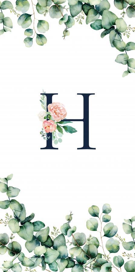 Handtuch mit Monogramm und Text (TOMOXT) - H
