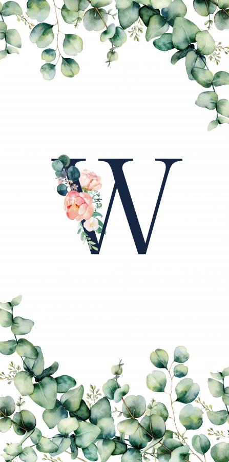 Handtuch mit Monogramm und Text (TOMOXT) - W