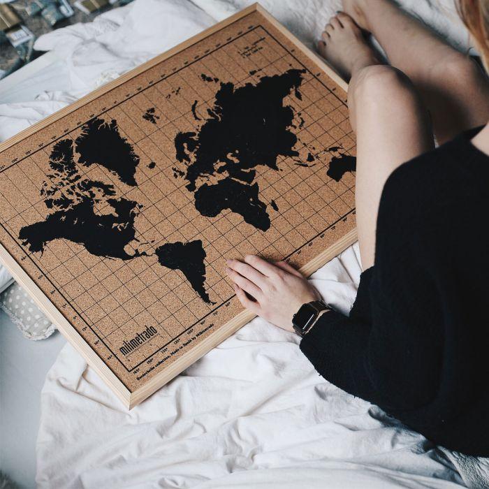 Cadeau de noel : le pinboard carte du monde