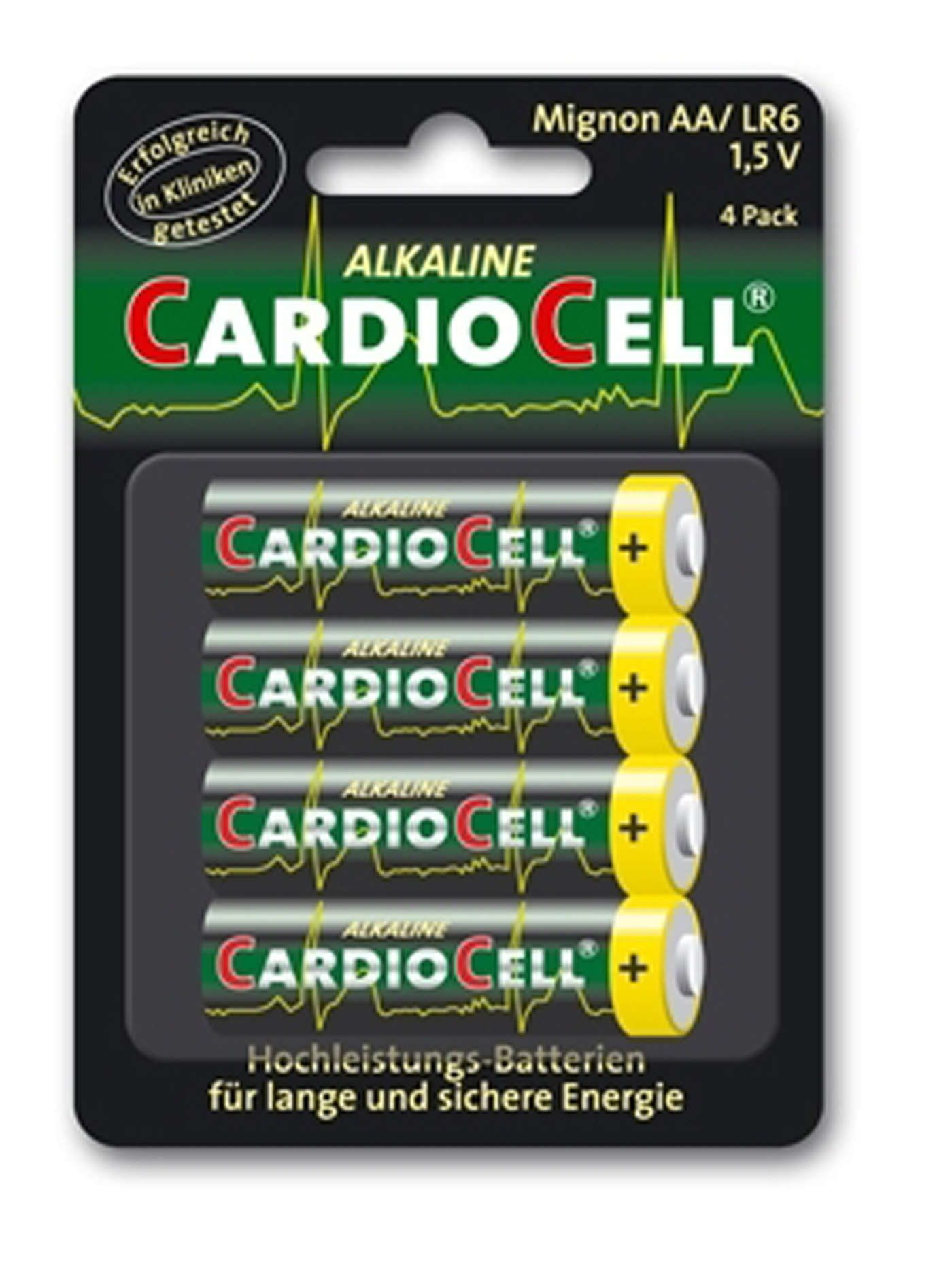 Cardiocell Batterie Mignon Plus AA-LR6 Lot de 4
