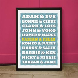 poster personnalisable couples c l bres. Black Bedroom Furniture Sets. Home Design Ideas