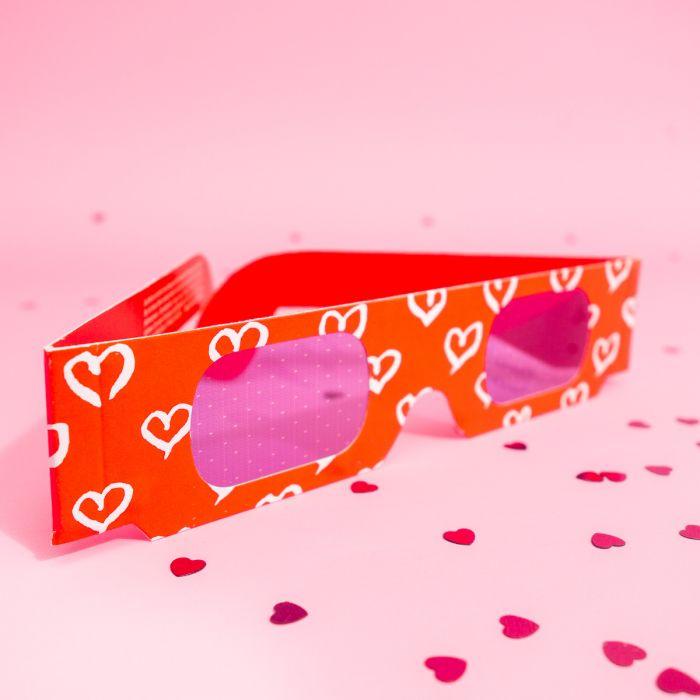 Lunettes 3D avec Coeurs