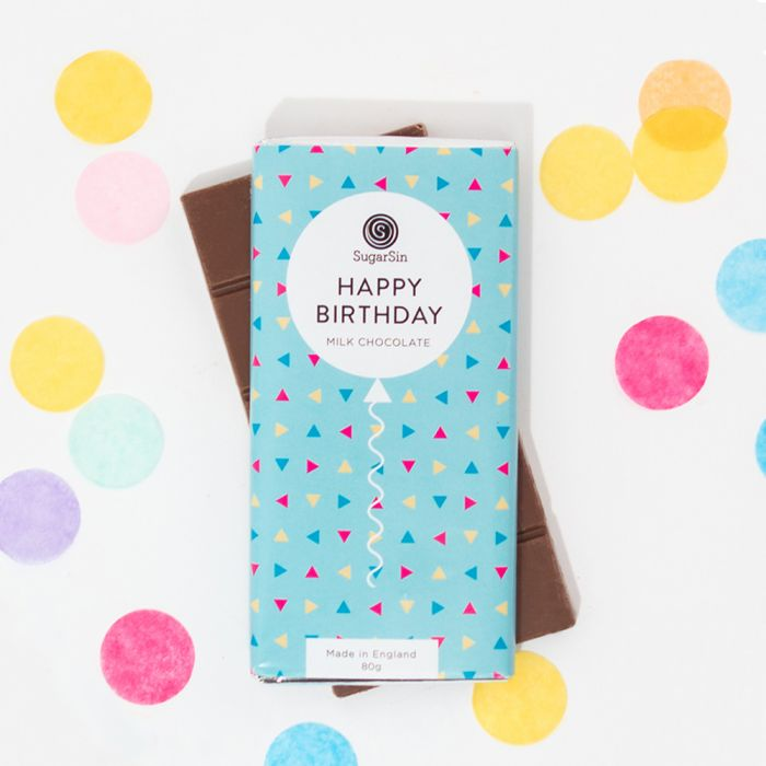 Tablette de Chocolat Happy Birthday