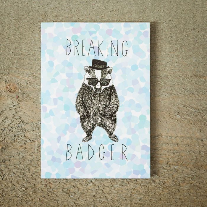 Carte de vœux Breaking Badger