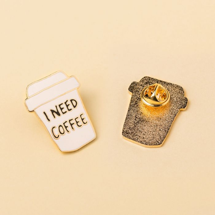 Pin's I Need Coffee