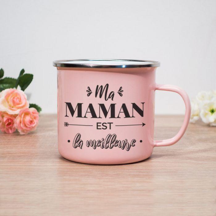 Tasse en Métal Ma Maman Est La Meilleure