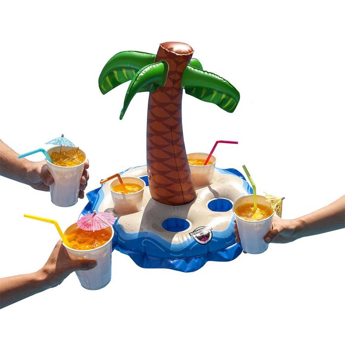 Porte-gobelets gonflable avec palmier