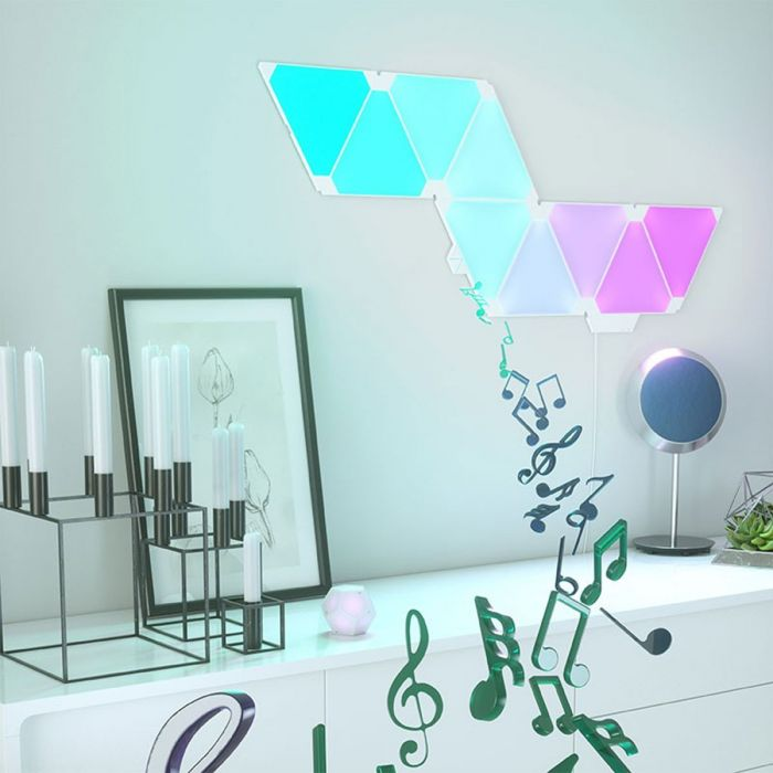 Panneaux lumineux interactifs Nanoleaf