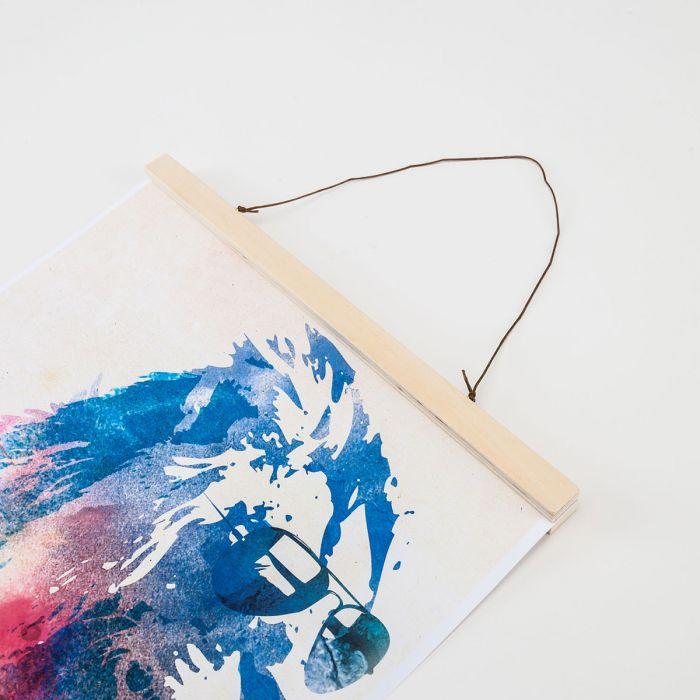 Posterhänger aus Holz