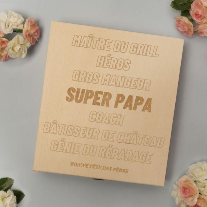 Boîte à Chocolats Personnalisable avec Texte