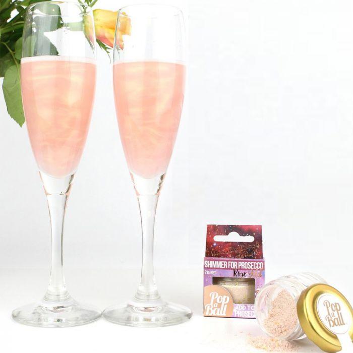 Poudre scintillante pour boissons