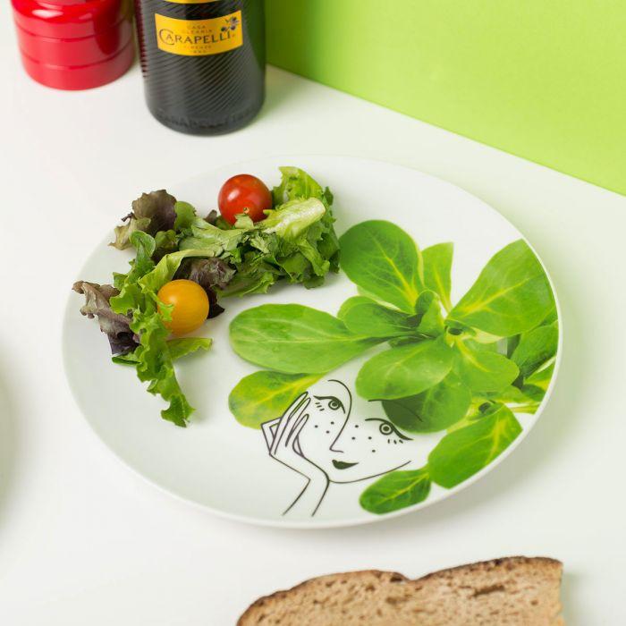 Les Petites Salades - Coffret de 6 Assiettes en Porcelaine