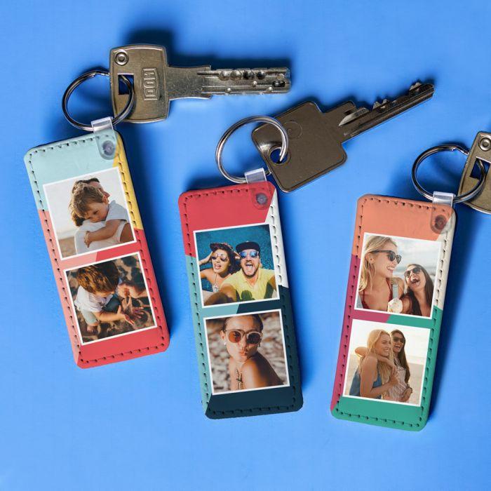 Porte-clés Personnalisable avec 2 Photos