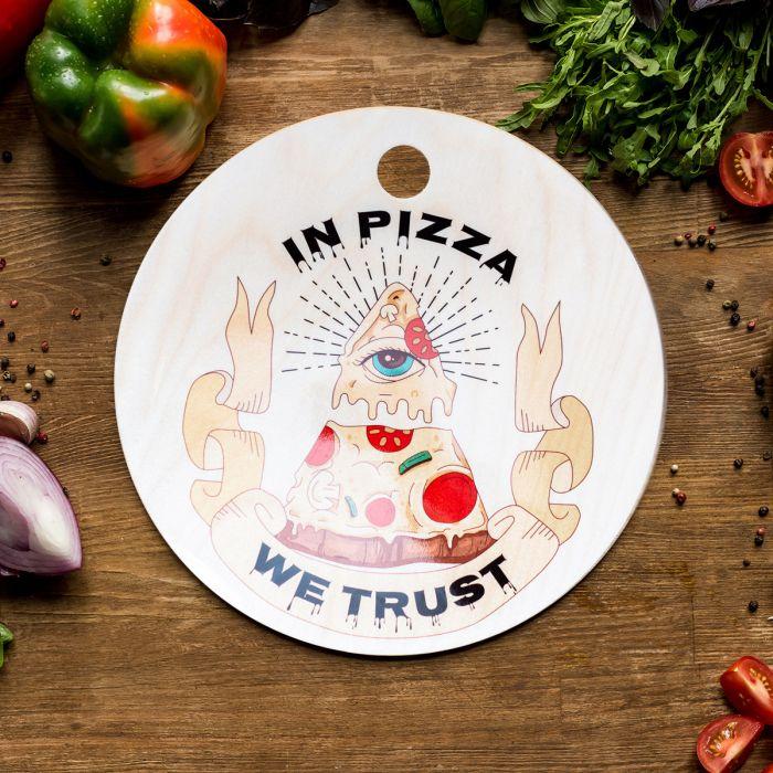 Planche à découper In Pizza We Trust