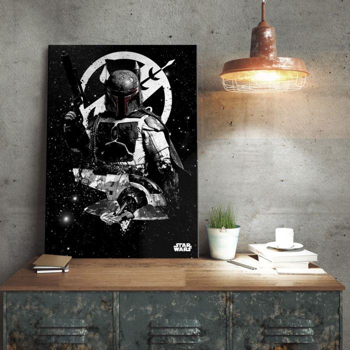 Poster métallique Star Wars – Slave 1 Boba Fett