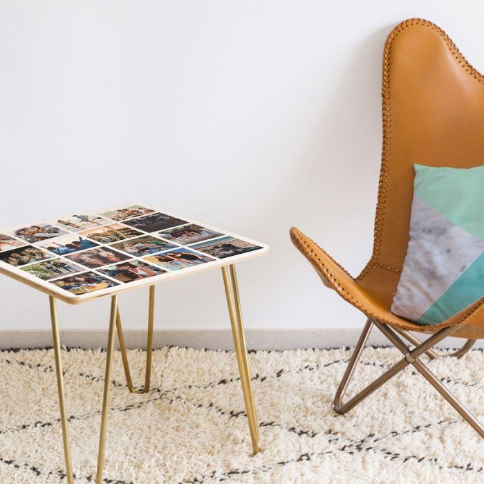 Table en bois Personnalisable avec 16 images