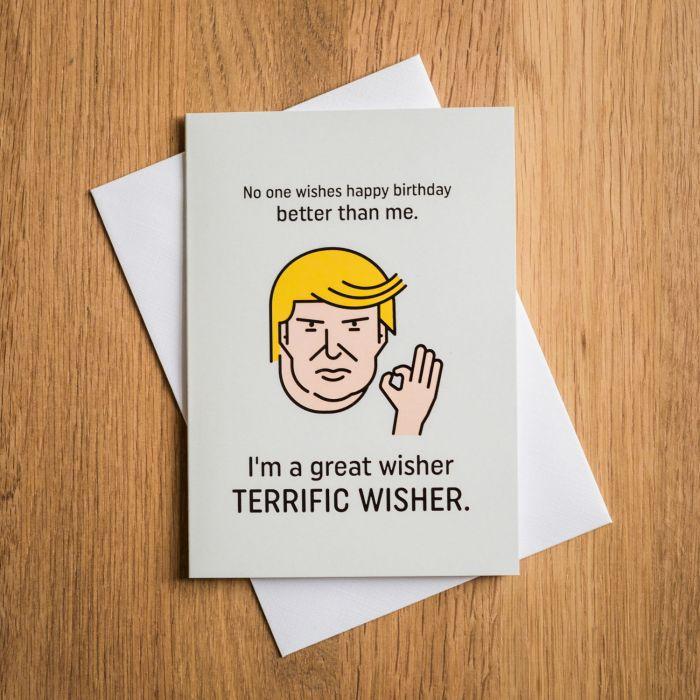 Carte d'anniversaire Terrific Trump