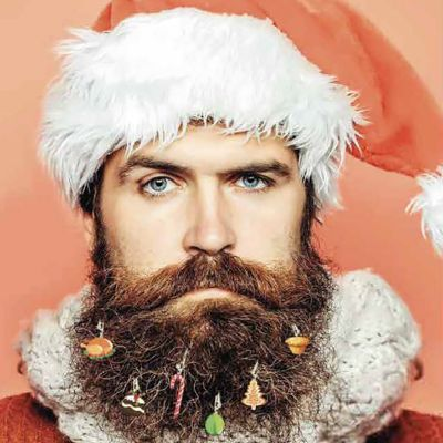 Décoration Noël pour barbe