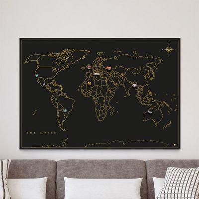 Carte du Monde des Aimants