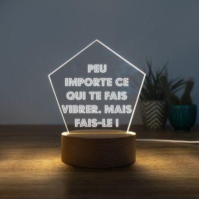 Lampe LED avec 5 lignes