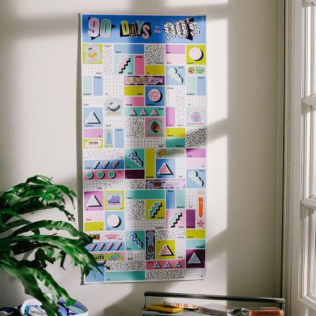 Poster à Gratter - 90 Days in the 90's