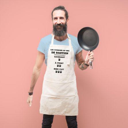 Tablier de cuisine personnalisable pour roi du BBQ