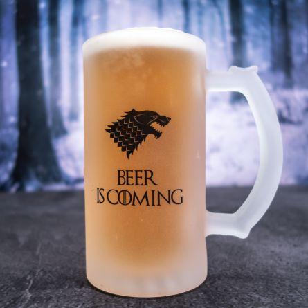 Chope de bière personnalisable loup