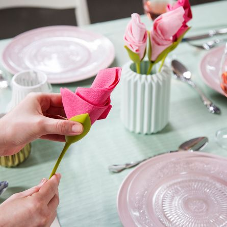 Porte-serviettes Fleurs (lot de 4)
