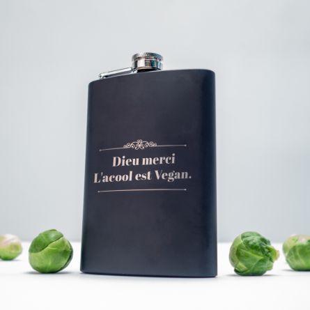 Flasque personnalisable avec texte