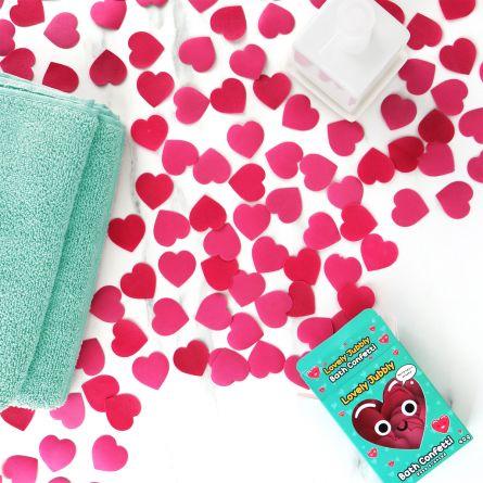 Confettis cœur pour le bain