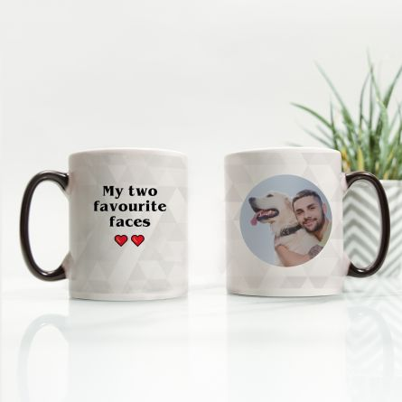Tasse thermosensible avec photo et texte