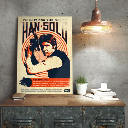 Poster métallique Star Wars – Han Solo Retro