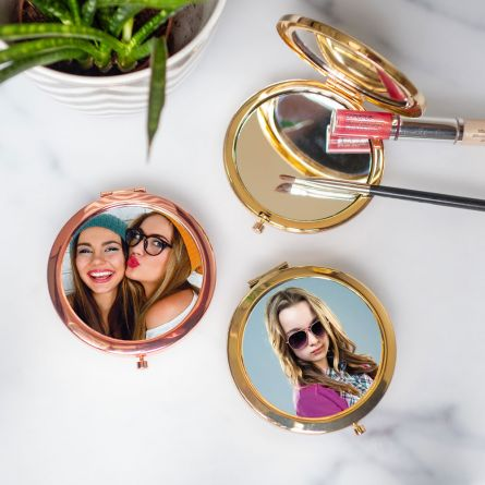 Miroir de poche personnalisable avec photo