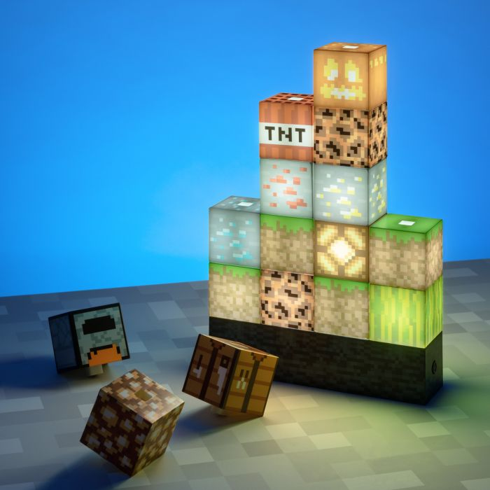 Lampe blocs Minecraft avec 16 éléments