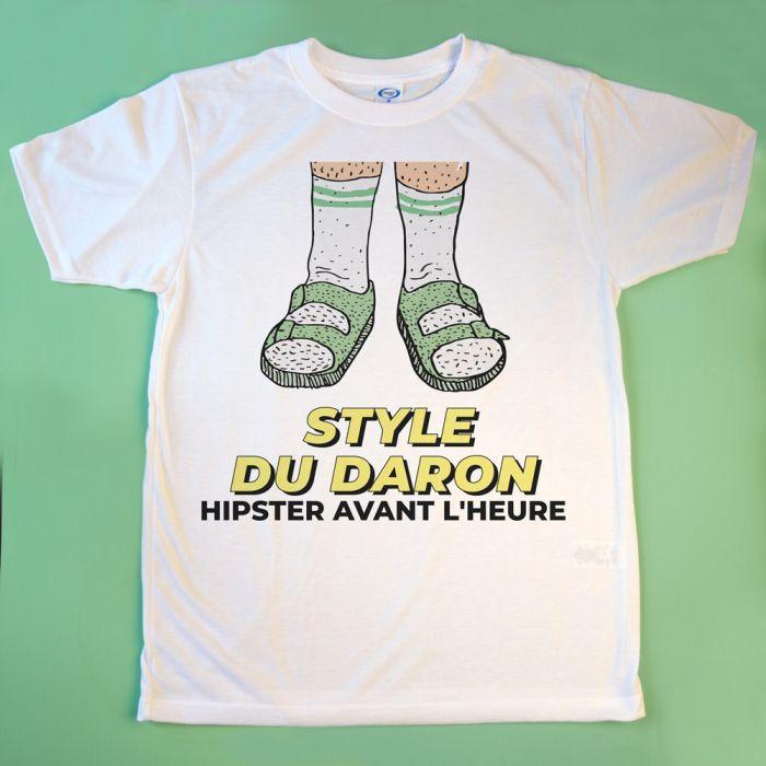 T-shirt sandales avec texte