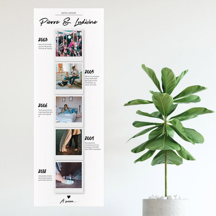 Poster photo personnalisable – Notre histoire