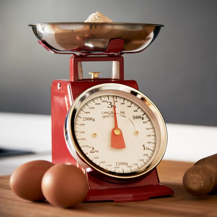Balance de cuisine rétro en métal