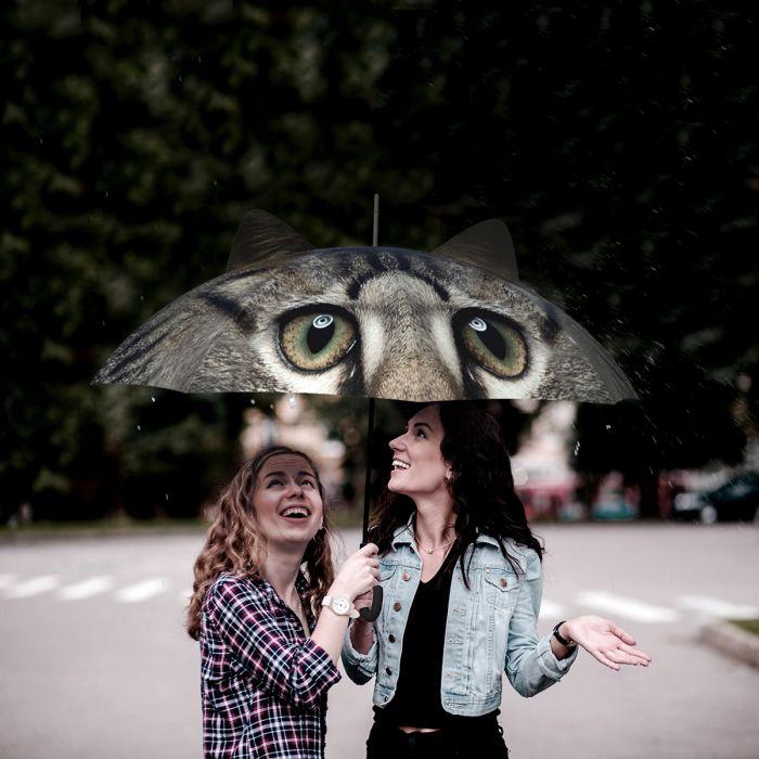 Parapluie avec oreilles de chien ou de chat