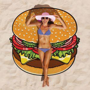 Serviette de plage Cheeseburger