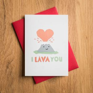Carte de Saint Valentin – I Lava You