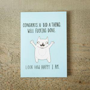 Carte de vœux Happy Cat