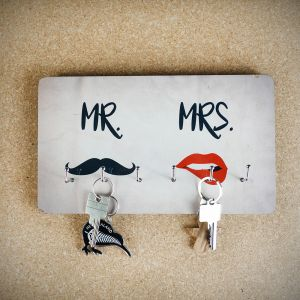 Porte-clés Mr. & Mrs.