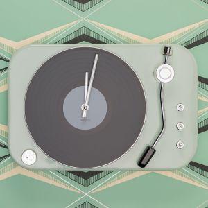 Horloge en forme de Tourne Disque