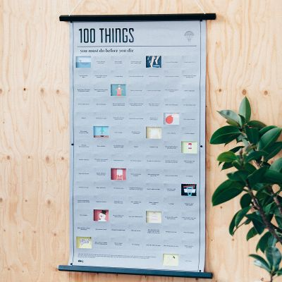 Cadeau 50 ans - Poster 100 things, que vous devez faire avant de mourir